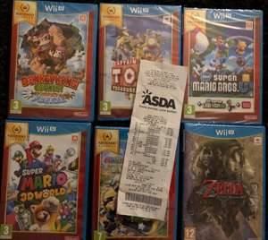 Wii U games from £4 - £15 at all Asda stores -  read description