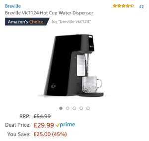 Breville VKT124 Hot Cup Water Dispenser 1.7L £29.99 @ Amazon