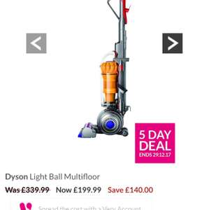 Dyson Light Ball Multi Floor vacuum £199.99 @ Very