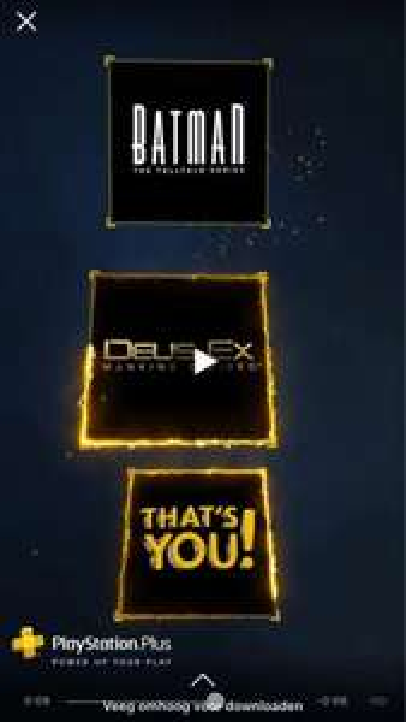 Playstation Plus January PS4 titles leaked via facebook ad. Telltale Batman S1 and Deus Ex : Mankind Divided