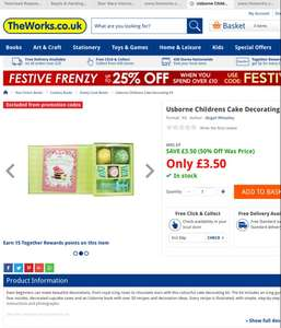 Usborne Childrens Cake Decorating Kit £3.50 C+C @ The Works
