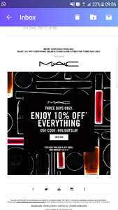 MAC HAS 10% OFF EVERYTHING with code