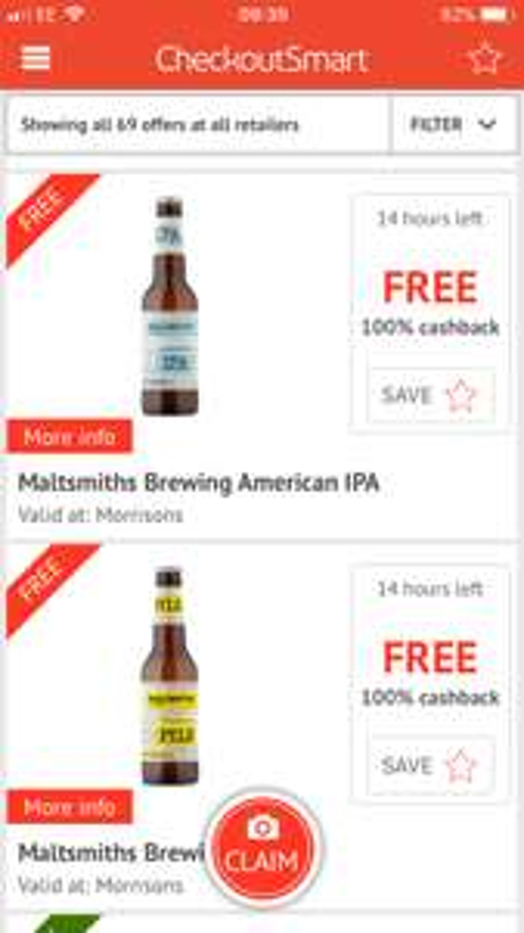 Free Maltsmiths Brewing Pilsner or American IPA @ Morrison's vía Checkoutsmart