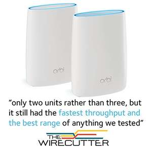 NETGEAR RBK50 Orbi 11AC 3.0 Gbps Tri Band WiFi things £249.99 - Amazon