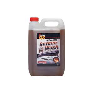 TRIPLE QX -7c All Season Screenwash (Cola Fragrance) - 5ltr now only £2.49 delivered via discount code @ Carparts4less
