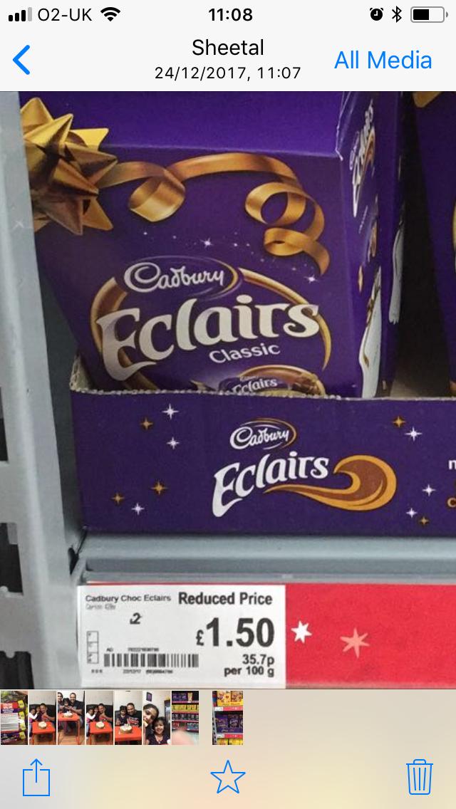 Cadburys eclaires box 420 gms £1.50 @ Asda