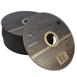 angle grinder discs 10 for £3. 1mm cutting for stainless steel.