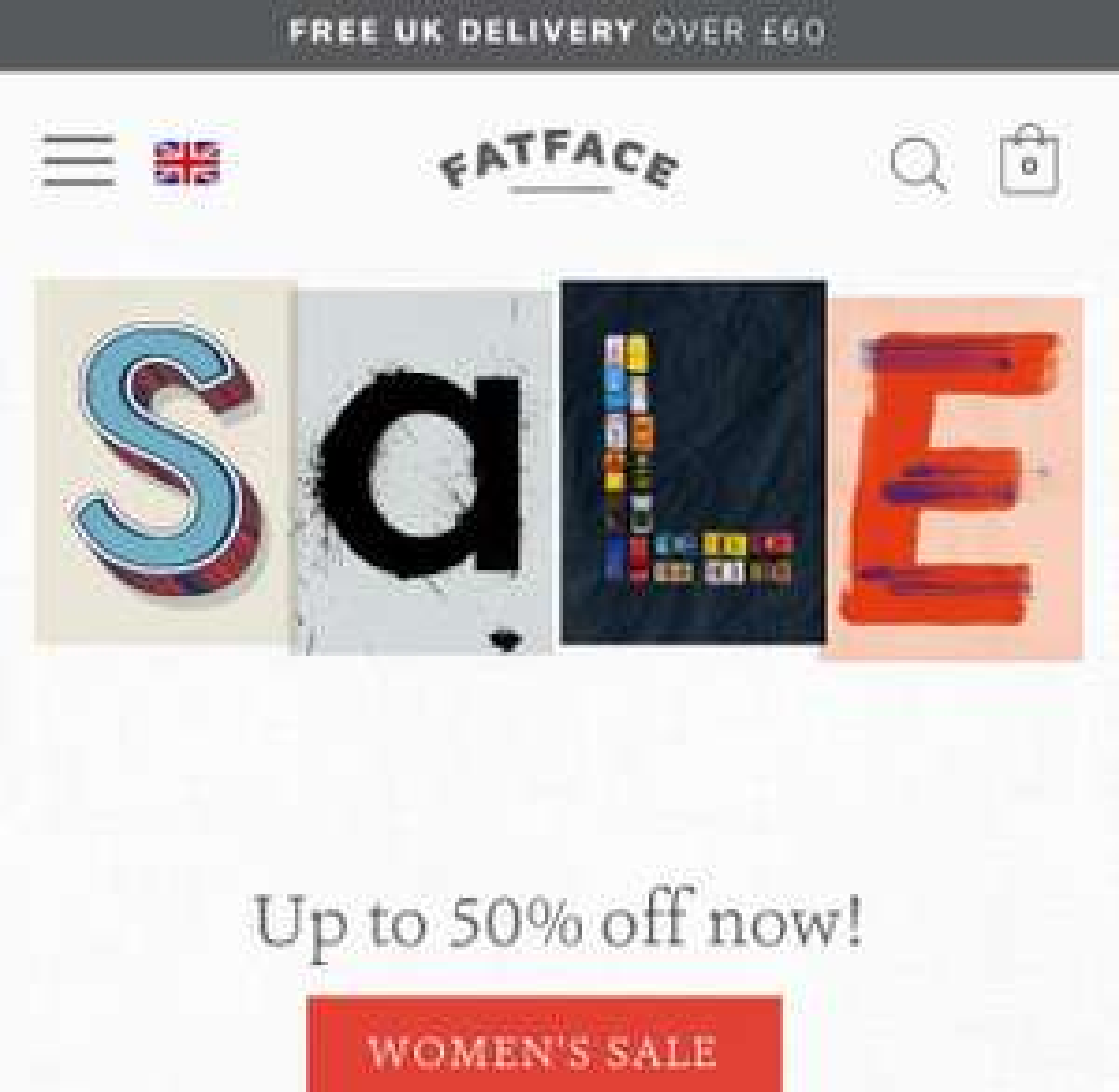 Fatface Online 50% off Sale