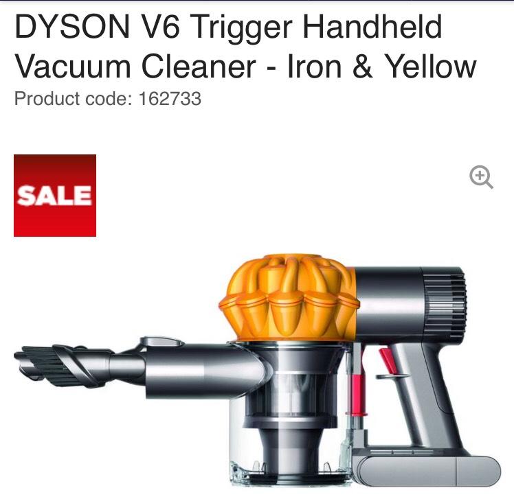 DYSON V6 Trigger Handheld Vacuum Cleaner £99 @ Currys