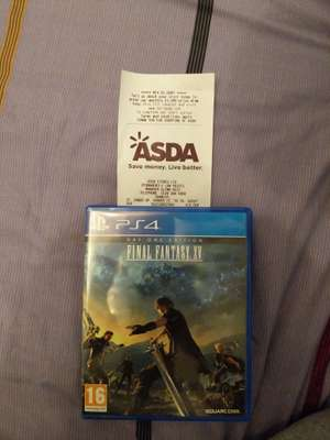 Final Fantasy XV Day One Edition PS4 £10 in-store Asda Crawley