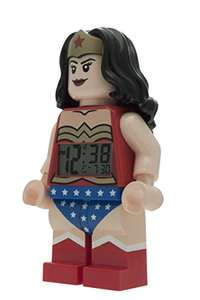 LEGO DC Comics Super Heroes Wonder Woman Minifigure Clock - £12.50 Prime / £17.25 non-Prime @ Amazon