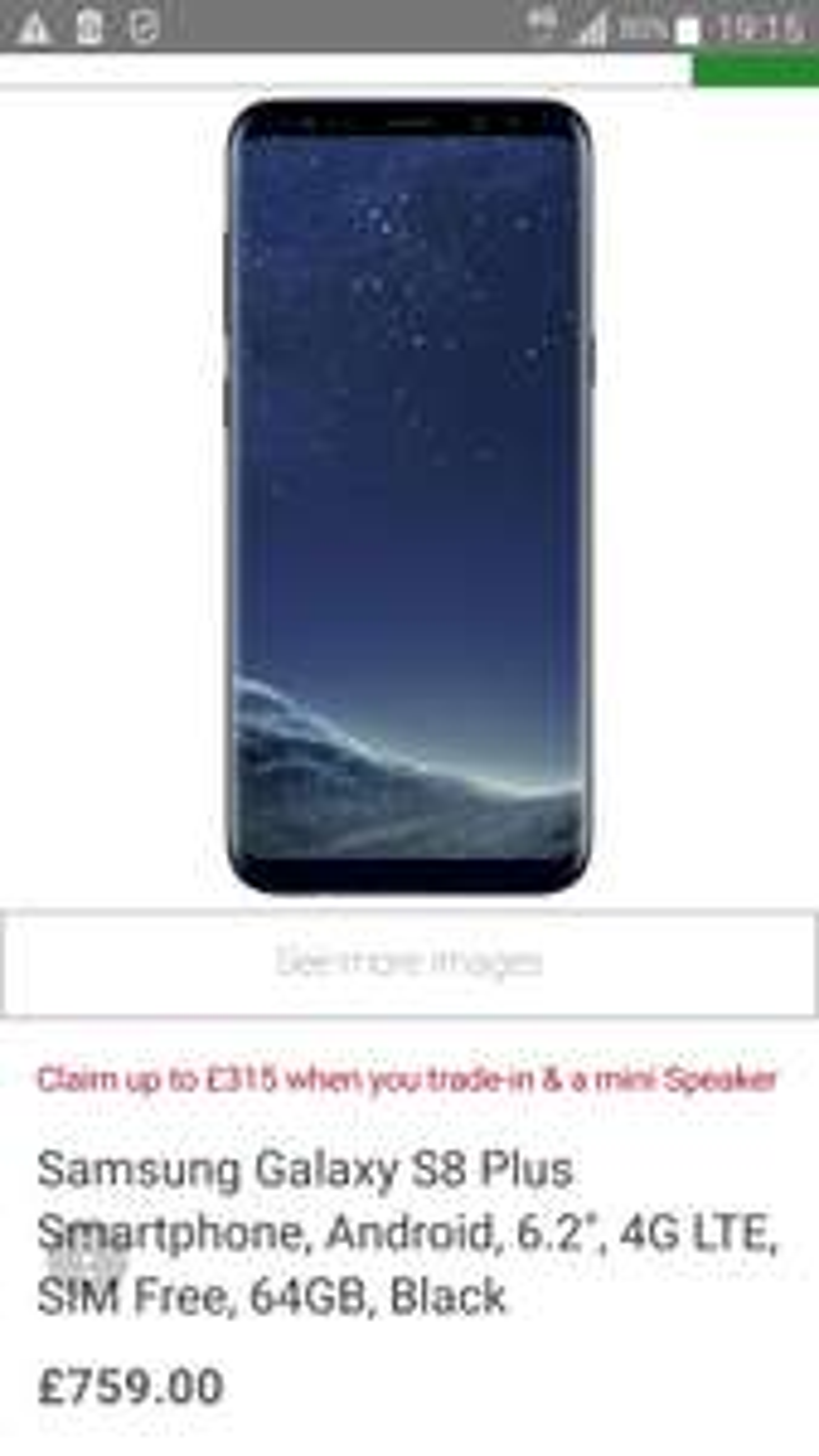 Samsung Galaxy S8 & s8+ - £444 @ John Lewis