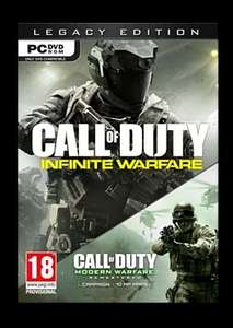 Call of Duty: Infinite Warfare - Legacy Edition with Modern Warfare RemasteredFor PC (Can be activated on Steam with Key provided with Disc)  £9.99 With Free Delivery @Game