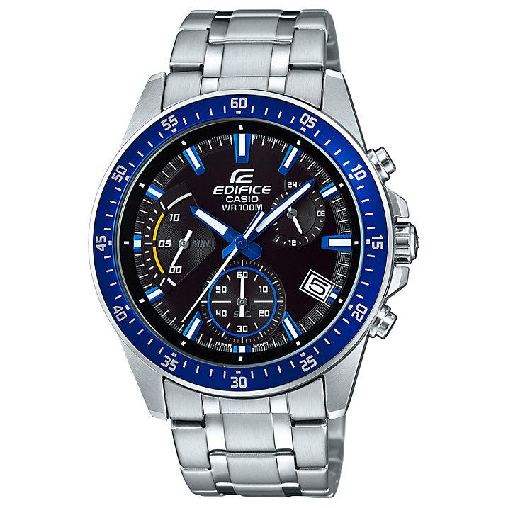 Casio Men's Edifice Chronograph Date Bracelet Strap Watch, £60 at J.Lewis (C&C)