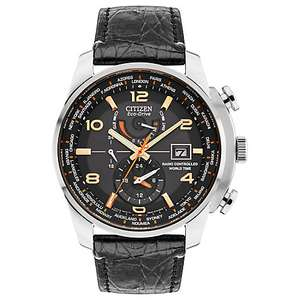 Citizen Limited Edition Men's Chronograph World Time Date Leather Strap Watch, £274.50 from J.Lewis