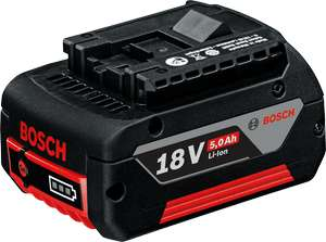 Bosch 18v 5.0Ah Li-Ion Battery - £45 (£49.95 inc delivery or free delivery over £50) @ Power Tool World