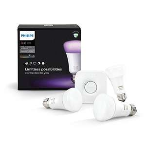 Philips Hue White and Colour Starter Kit at Amazon France £68.29