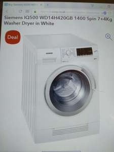 ​Siemens IQ500 WD14H420GB 7kg/4kg Washer/Dryer £409 (Code: PCK40) at co-op electrical