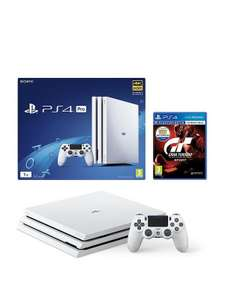 PS4 PRO white with GT Sport £269.99 with New Customer code @ very