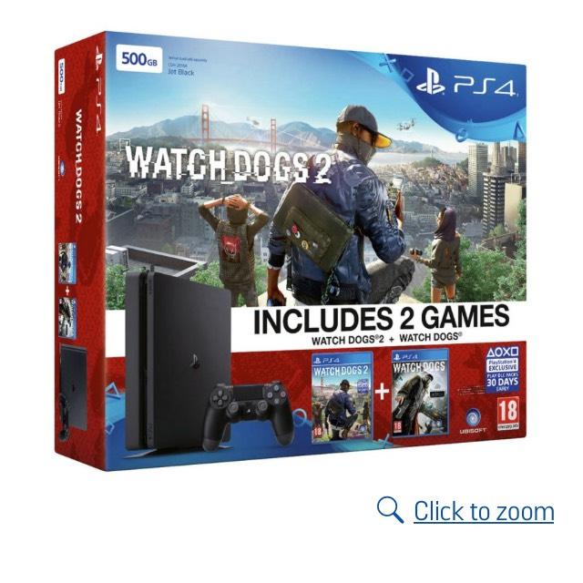PS4 Slim 500GB Bundles - Watch Dogs 2 / COD Infinite Warfare £189.99 @ Argos