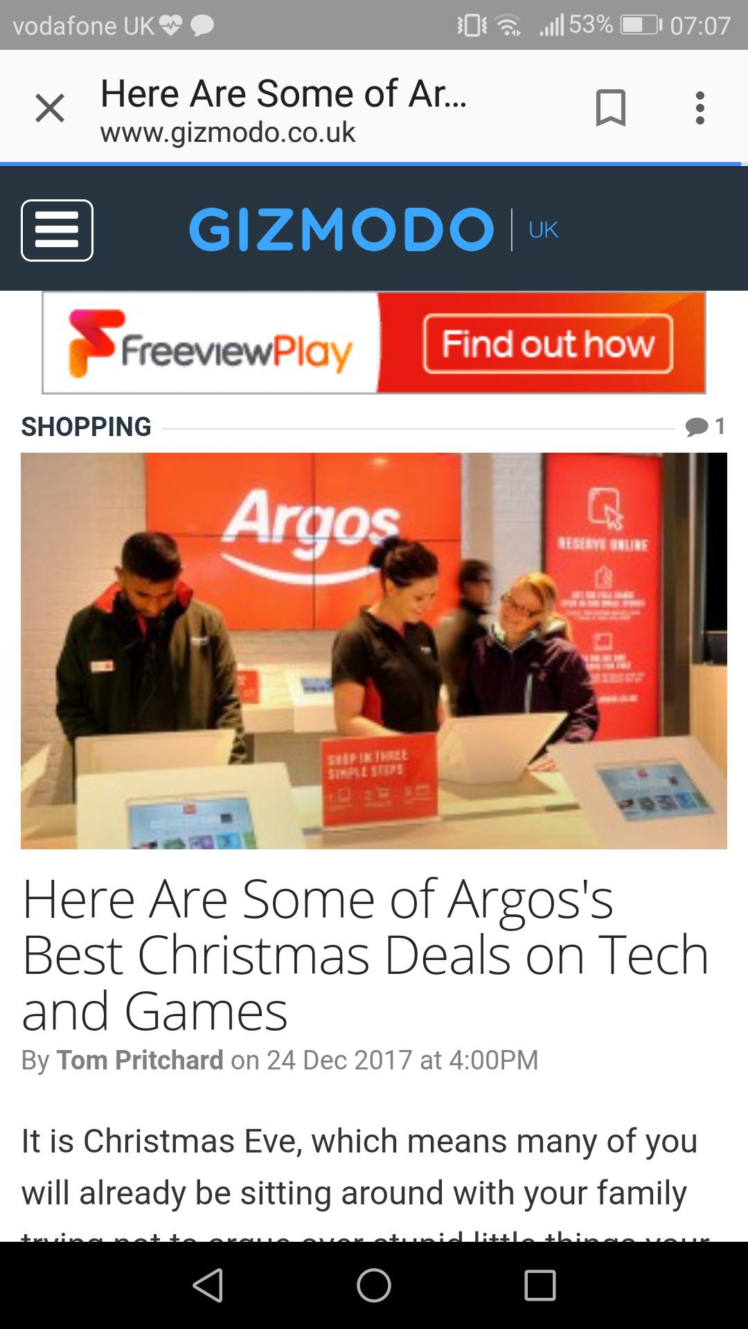 ARGOS BEST DEALS - List below