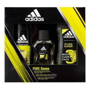 Adidas Pure Game Trio Body Spray, Shower Gel & EDT @ £1.99 (Free C&C) - Superdrug
