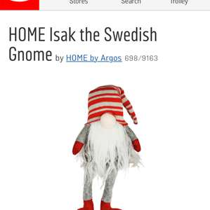 Isak the Swedish Gnome at Argos for £1.99