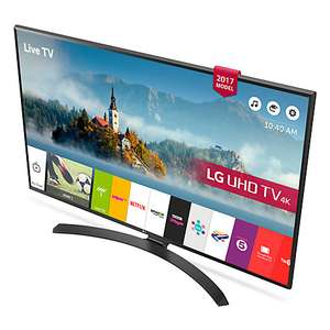 "LG 49UJ635V LED HDR 4K Ultra HD Smart TV, 49"" with Freeview Play & Crescent Stand, Black £419 @ John lewis"