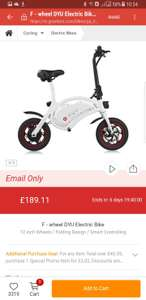 F - wheel DYU Electric Bike £189.11 @ Gearbest