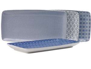 Collection Purity Set of 3 Large Porcelain Blue Platters £5.99 @ Argos