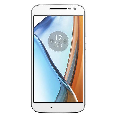 "Moto G4 Smartphone, Android, 5.5"", 4G LTE, SIM Free, Dual SIM Model, 16GB, White £129.95 @ John Lewis"