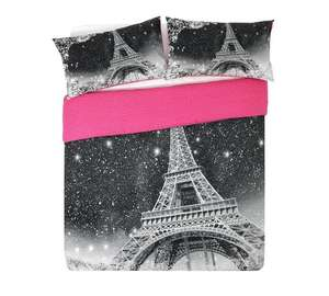 HOME Paris by Night Bedding Set - Double £5.49 - Argos