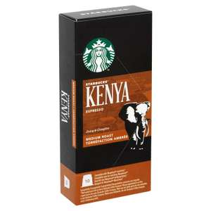 Starbucks Kenya Espresso Capsules Nespresso Compatible(Pack of 12,Total 120 capsules) @ £23.32 Dispatched from and sold by Amazon