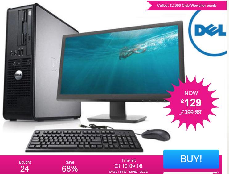"""Dell Optiplex 755 160GB HDD 4GB RAM with 19"""" Monitor, Keyboard & Mouse (Grade B) £129.99 @ Wowcher"""