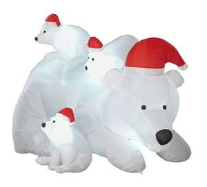 Inflatable Polar Bear Family at Argos for £14.99