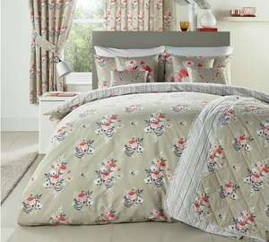 Dreams N Drapes Penelope Coral Bedding Set - Superking - £9.60 @ Argos