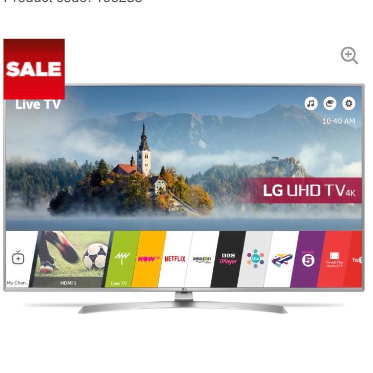 "LG 49UJ701V 49"" Smart 4K Ultra HD HDR LED TV £499 Currys"