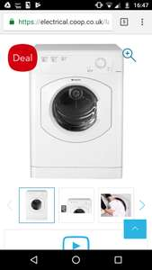 Hotpoint vented dryer - £199 @ Co-op Electrical
