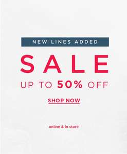 Up to 50% off sale now on @ Hobbs + extra 10% off w/code - from £4.50
