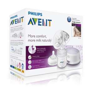 Philips AVENT Comfort Single Electric Breast Pump - UK 3pin Plug at Amazon for £55
