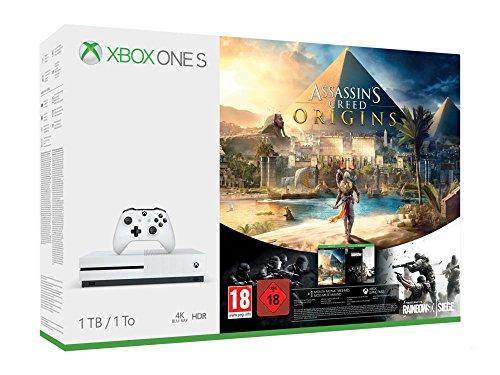 Xbox One S 1TB Console Assassin's Creed Origins Bonus Bundle + free games - £209.00 - Amazon.de
