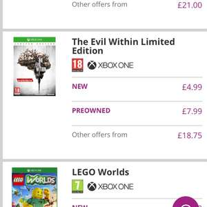The Evil Within - Limited Edition (Xbox One) New £4.99 @ Game.co.uk