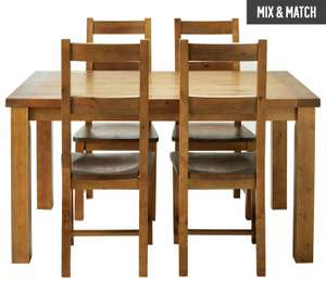 Collection Arizona Solid Pine Dining Table & 4 chairs - Pine £80.99 @ Argos (£6.95 del)