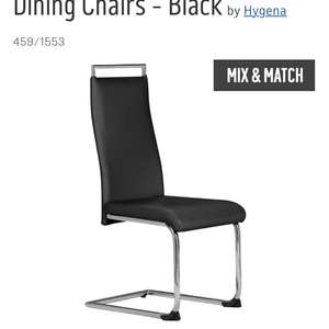 Hygena pair of dining chairs, buy 1 set get second half price £40.49 @ Argos