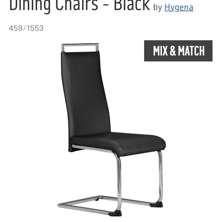 Hygena pair of dining chairs, buy 1 set get second half price £40.49 @ Argos