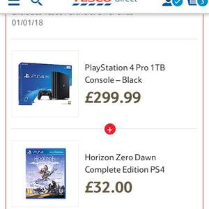 PS4 Pro with Horizon zero Dawn complete and hidden agenda £297 @ Tesco
