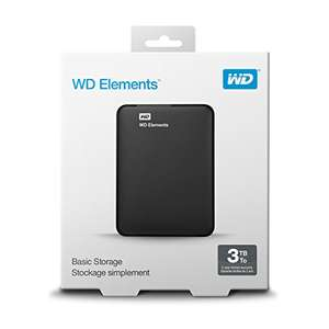 WD 3 TB Elements Portable Hard Drive Reduced to  £77.99 @ Amazon