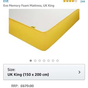 Eve mattress deals - 40% off the king size £409.99 @ Amazon