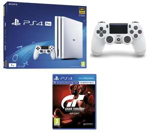 SONY PlayStation 4 Pro,  Gran Turismo Sport & extra Wireless Controller Bundle £299.99 @ Currys