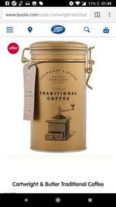 Cartwright & Butler Traditional Coffee at Boots for £6